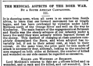 Medical Aspects of the Boer War (1899)