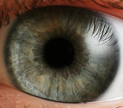 Indgangen til sjælen? Øjets pupil er den sorte åbningen midt i regnbuehinden.